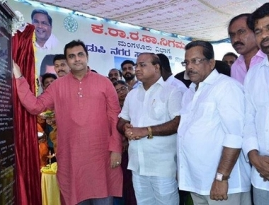 Pramod Madhwaraj inaugurates KSRTC JNRUM bus stand