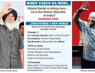 Achchhe din are here: Badal looks like Mandela and Advani sounds like Atal
