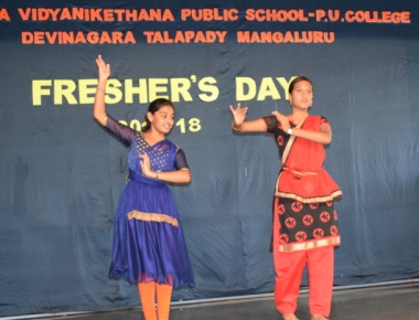 Freshers Day at Sharada Vidyanikethana PU College Talapady