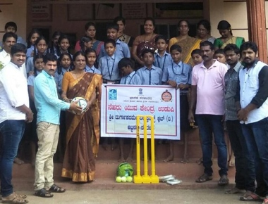Friends Club donates first aid box, sports equipment to school