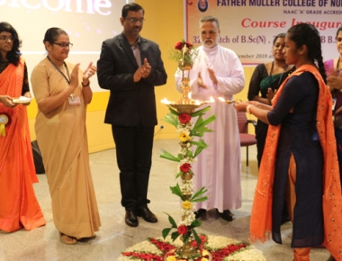 Fr Muller College of inaugurates various nursing batches