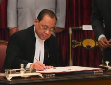 Justice Ranjan Gogoi sworn in as Chief Justice of India