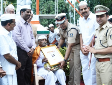 Freedom Fighter K P Madan Master felicitated