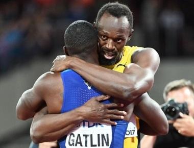 No fairytale finish for Usain Bolt: Justin Gatlin gatecrashes legendary Jamaican's farewell 100 m run