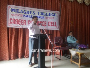 Career Guidance Seminar to BSc Students held at Milagres College Kallianpur