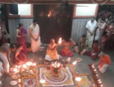 The blissful celebration of 'Deeparadhana' on Mahanavami day at Gokul
