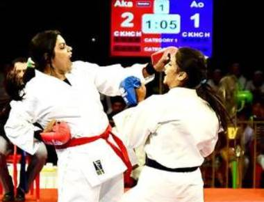 Mayor clinches gold at national karate championship