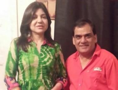 TV Actor Gopi Bhalla has a huge crush on Legend singer Alka Yagnik