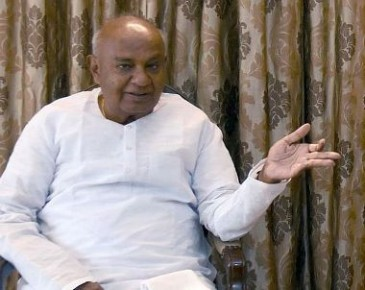 Deve Gowda says JD(S) will go solo