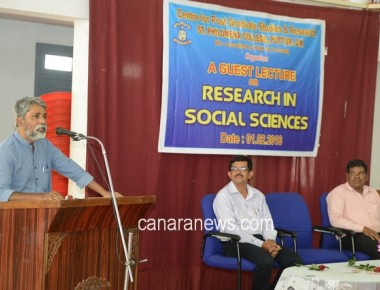 Guest Lecture held at St Philomena college Puttur