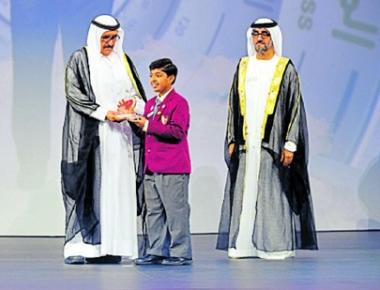 Brent D'Souza from Udupi gets Sheikh Hamdan Award