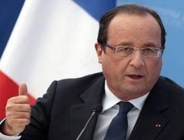 Modi welcomes Hollande at Chandigarh's Rock Garden