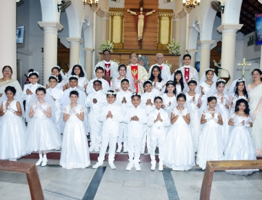 Bread  of Life and Cup of Joy - 27 Children at Valencia Church receive First Holy Communion