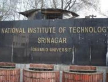 HRD team at NIT Srinagar; outstation students seek security