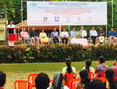 Indian Dental Association in district organises oral health camp