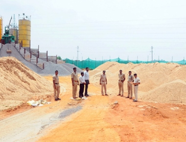 Illegally stocked sand worth Rs 33 lakh seized
