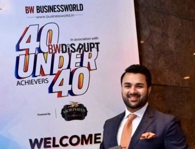Ryan Pinto, CEO, Ryan Group awarded among the brightest young Entrepreneurs by Business World 40 under 40.