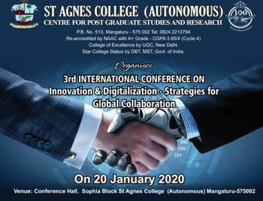 Third International Conference on Innovation and Digitalisation- Strategies for Global Collaborations at St Agnes College
