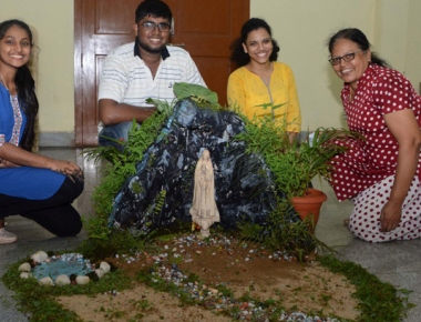 Infant Mary Church holds unique grotto making competition