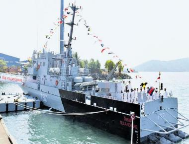 Navy commissions INS Tillanchang at Seabird naval base in Karwar