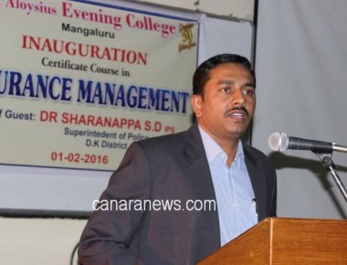 Certificate course in Insurance Management introduced