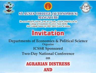 TWO DAY NATIONAL CONFERENCE ON AGRARIAN DISTRESS AND ENVIRONMENTAL ISSUES AND POLICIES