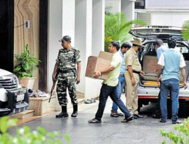 Raids continue, I-T teams to vacate minister's house today