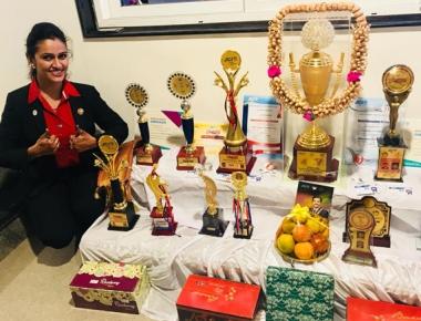 JCI Sen Soujanya Hegde bags Best Zone President Award