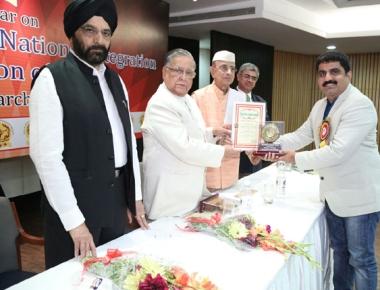 Jeevan K Shetty receives Rashtriya Gaurav award