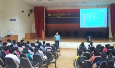 JKSHIM, Nitte hosts talk on Indian tax system