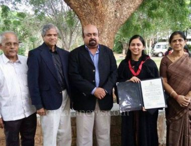 Vasundhara Kamath conferred PhD by Nalsar University of Law
