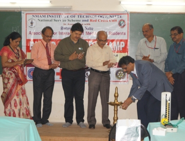 Blood donation camp held at NMAMIT