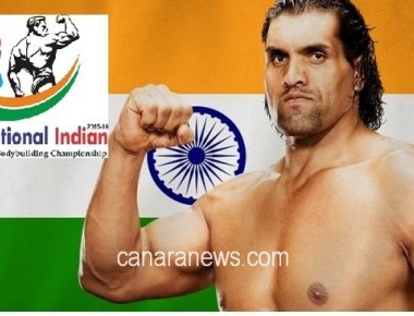 """The Great Khali"" to grace maiden "" Mr.Intl.Indian"" body building championship 2015 in Dubai"