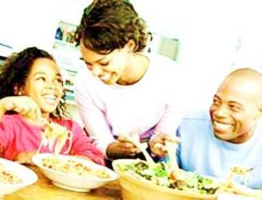 Talk to your kids at dinner time and keep them fit