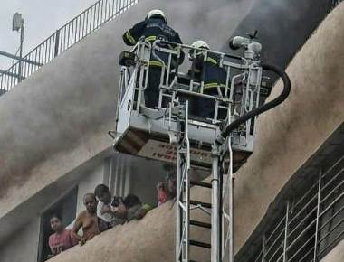 Four killed, 23 injured in Parel building fire