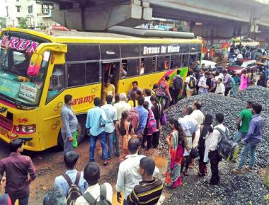 With KSRTC buses off the road, students stay at home
