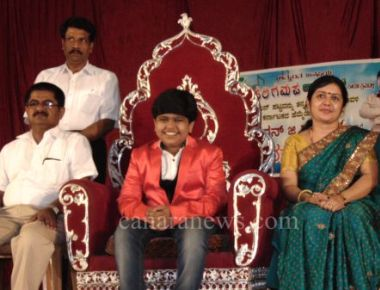 Gagan Gaonkar felicitated in his hometown