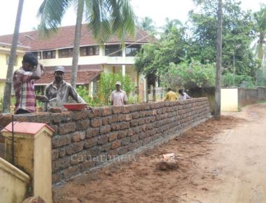 In response to widening of road, Holy Rosary Church of Kundapur generously gives up land to the Muncipality