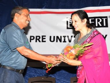 Prof Lalitha Mallya delivers talk on time at Expert PU College