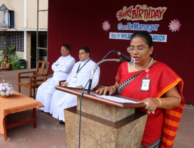 LCS celebrates manager Fr Wilson D'Souza's birthday