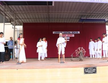 Lourdes Central School celebrates Gandhi Jayanthi