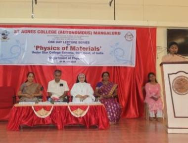 Mangaluru: One day Lecture Series held on 'Physics of Materials' at St Agnes College