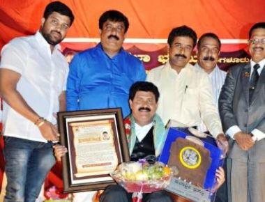 """Bahrain Kannadiga Leeladhar  Baikampady Bagged """"Srishti Kalashri"""" Award"""
