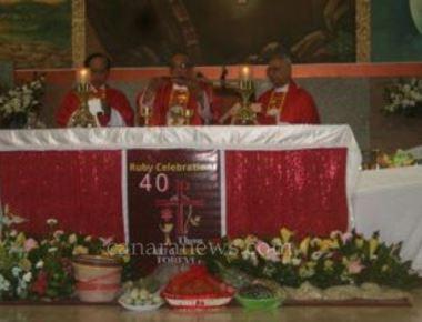 Monsignor Leslie Shenoy celebrates 40 years of priesthood