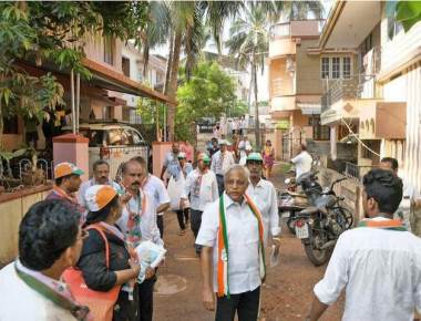 MLA Lobo engages voters duringhis door-to-door campaign
