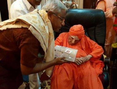 MLA JR Lobo visits Siddaganga Math seer