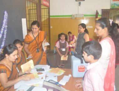 Lourdes Central School held Measles - Rubella Vaccination drive