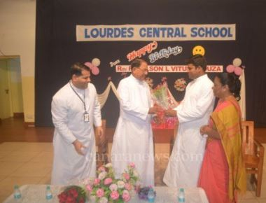 Lourdes Central School celebrates Fr Wilson D'Souza's birthday