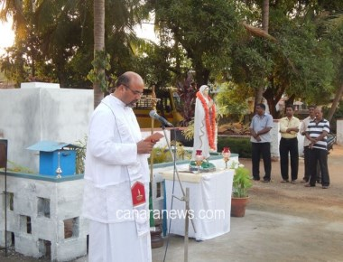 The Statue of Our Lady of Lourdes Kundapur was Temporarily Shifted to a New Venue