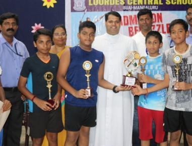 Lourdes Central School, Sharada Vidyalaya shine at 'Bedazzle' badminton tourney
